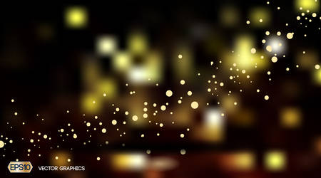 Digital Vector Abstract bokeh Background with sparkles and lights. Ready for product placement and infographic, poster, ads, print or magazine