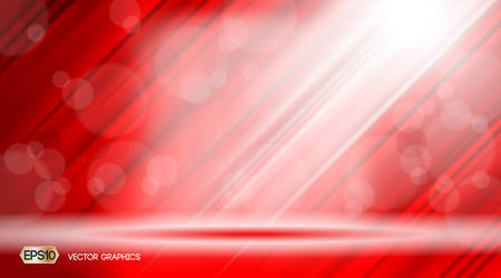 Red Glamorous fabric waves sparkling effects background. Vector illustration for ads, print, infographics, poster Illustration