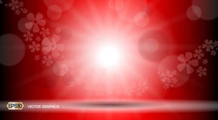 Red Glamorous lights waves sparkling effects background. Vector illustration for ads, print, infographics, poster