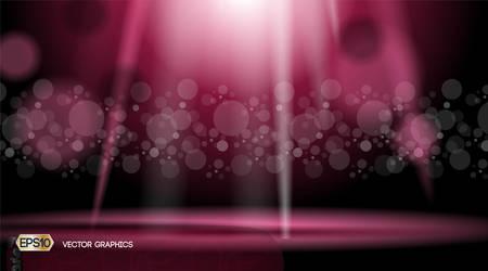 Onde di luci glamour scintillanti effetti di sfondo. Illustrazione vettoriale per annunci, stampa, infografica, poster
