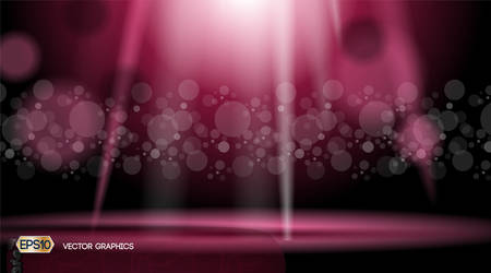 Glamorous lights waves sparkling effects background. Vector illustration for ads, print, infographics, poster Illustration