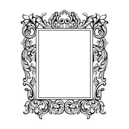 Vintage Imperial Baroque Mirror frame. Векторная Иллюстрация