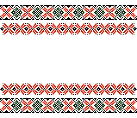 몰도바 루마니아어 민족 장식 패턴 벡터