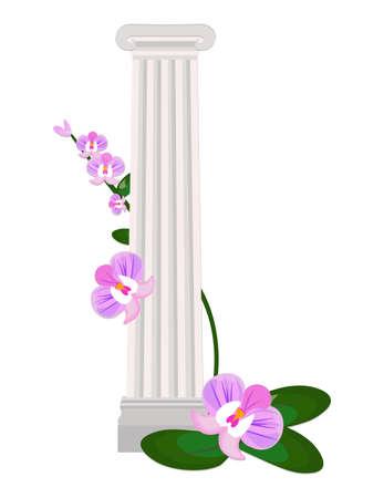 Greek Ionic columns order vintage design Vector illustration