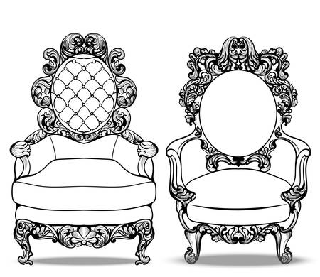 Imperial Baroque chairs collection with luxurious ornaments