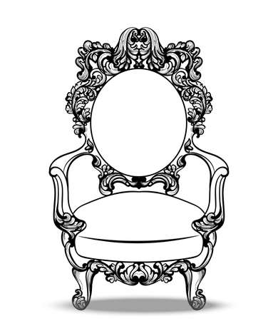 caoba: Imperial Baroque chairs collection with luxurious ornaments