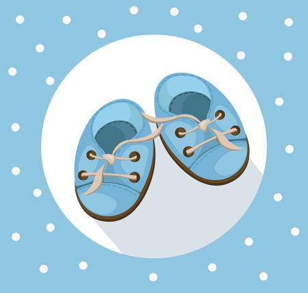 Baby crutches cute shoes Vector. Colorful summer shoewearing Illustration