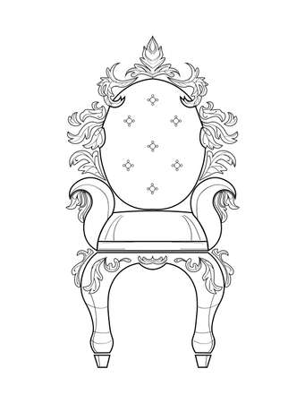 Baroque furniture rich set collection. Ornamented background Vector illustration Illustration