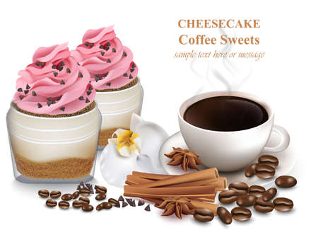 Cheesecake and fresh coffee