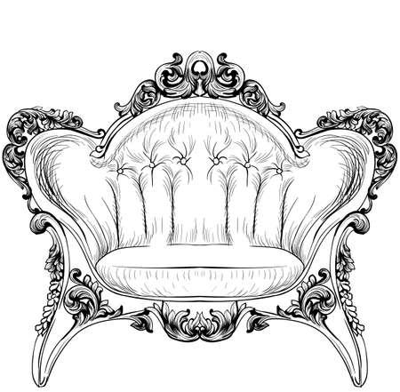 Sillón elegante barroco Foto de archivo - 85359047