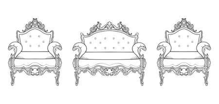 Armchair furniture illustration. Illustration