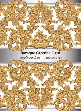 Royal Victorian ornament invitation card 向量圖像