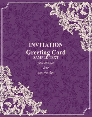 Royal Victorian ornament card 向量圖像