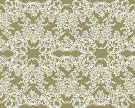 Royal victorian pattern ornament. Vector Rich rococo backgrounds 版權商用圖片