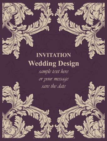 Luxury invitation card.