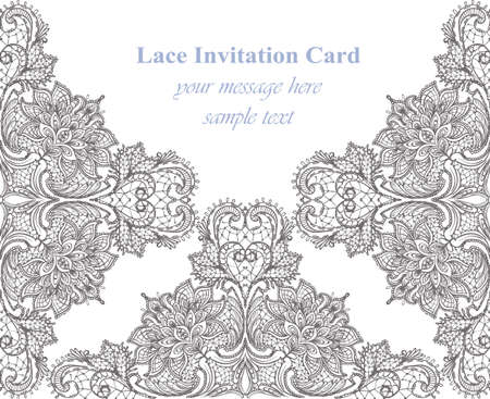 victorian wallpaper: Vintage Lace card  for invitations, prints, decor, greeting cards.