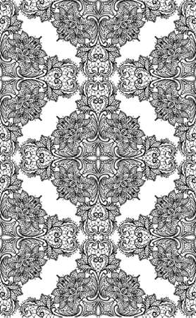 victorian wallpaper: Lace pattern card handmade ornament for invitations, prints, decor, greeting cards. Illustration
