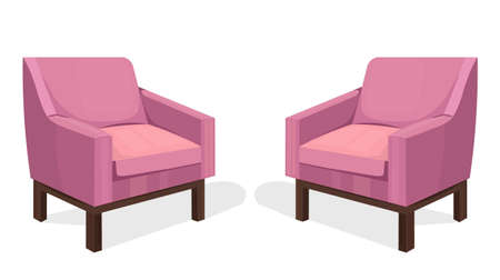 Colorful Chairs set Vector. Modern upholstery collection designs