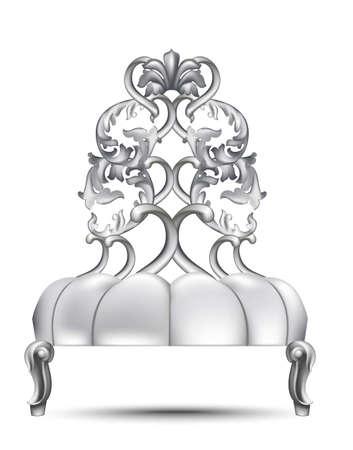 Baroque luxury chair. Illustration