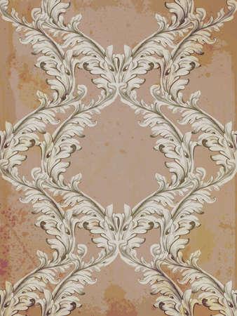 Baroque pattern grunge pattern design. Ilustração