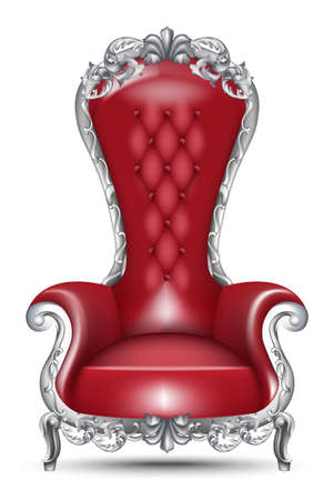 Red Baroque glamorous armchair 向量圖像