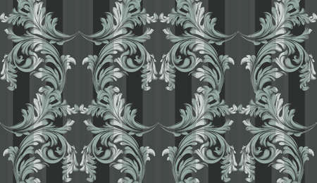 Vector Baroque ornament pattern background. Vintage exclusive decor textures Illustration
