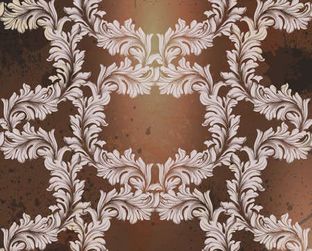 Damask pattern illustration handmade ornament decor