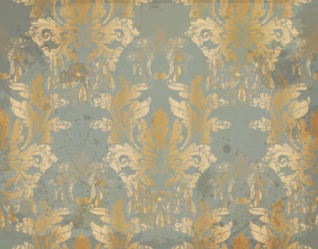 Vector Luxury Baroque pattern in gold. Victorian royal decor. Intricate design ornaments