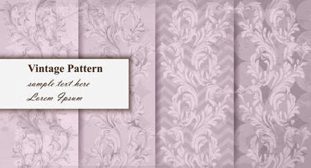 Luxury pattern set collection Vector. Trendy ornament decors pastel colors