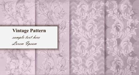Luxury pattern set collection Vector. Trendy ornament decors pastel colors