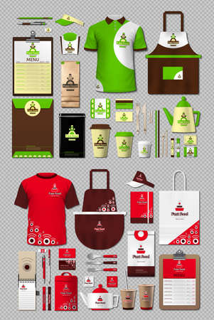 Business fastfood corporate identity items set