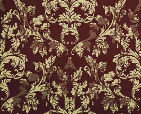 Vintage Damask pattern Vector ornament decor. Baroque grunge background textures. Royal victorian trendy designs