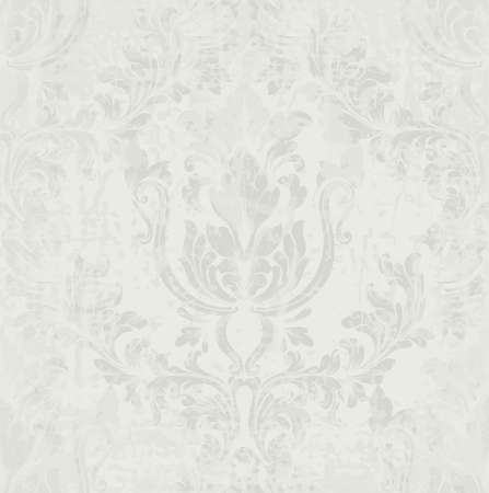 Gray classic pattern Vector ornament decor. Baroque background textures. Royal victorian trendy designs Ilustrace