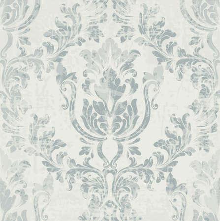 제국 로코코 패턴 벡터 장식 장식입니다. 바로크 배경 질감입니다. 로얄 빅토리아 트렌디 디자인