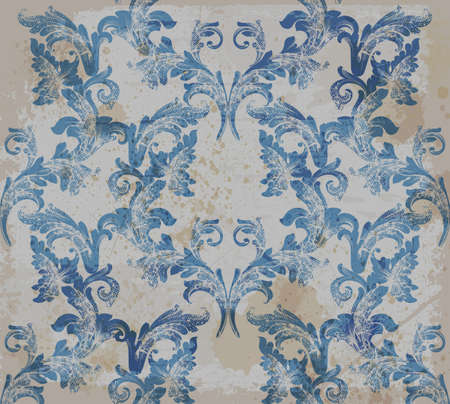 Damask old pattern ornament decor vector. Baroque fabric texture illustration design. Иллюстрация