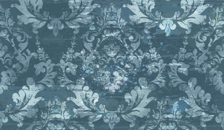 Damask old pattern ornament decor vector. Baroque fabric texture illustration design. Stok Fotoğraf - 97683726