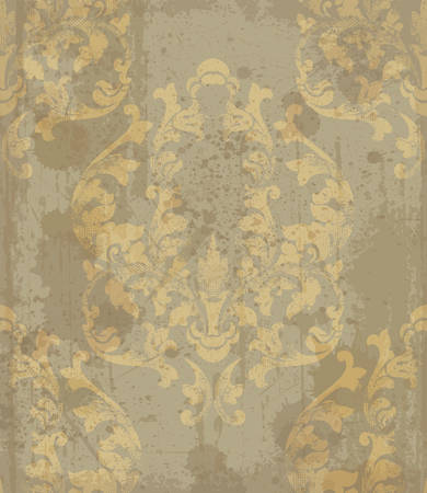 Baroque pattern vintage background Vector. Ornamented texture design. Original textile decors 일러스트