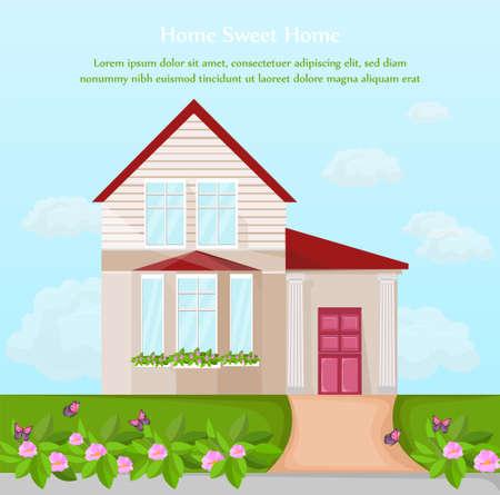 Classic House architecture facade design