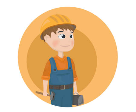 Man worker construction builder