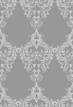 Vintage Baroque seamless texture pattern Vector. Wallpaper ornament decor. Textile, fabric, tiles trendy decors