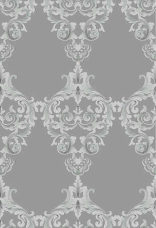 Vintage Baroque seamless texture pattern Vector. Wallpaper ornament decor. Textile, fabric, tiles trendy decors