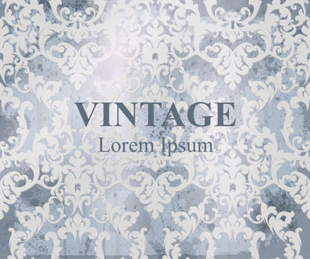 Vintage Baroque pattern Vector. Royal texture. Victorian fabric decors 矢量图像