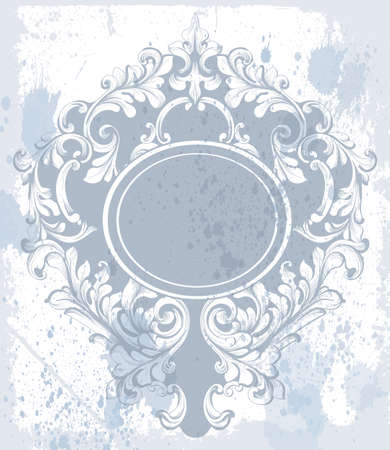 Vintage baroque ornament Vector. Classic old carved frame decors. Baroque sophisticated designs