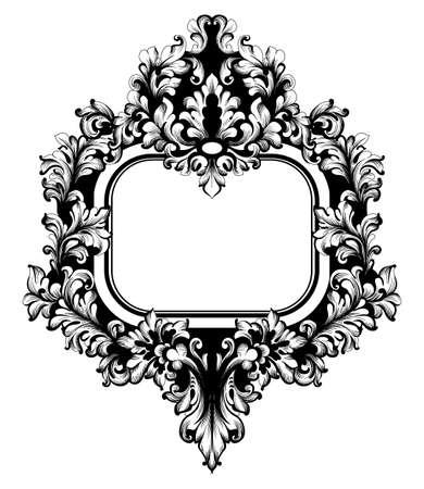 Vector de marco vintage. Decoraciones clásicas ricas talladas ornamentadas. Diseños barrocos sofisticados