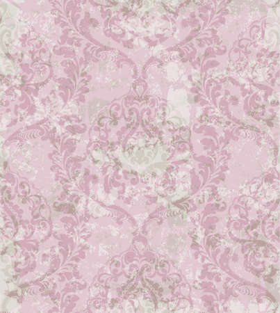 Damask ornament pattern Vector. Royal decor. Imperial background. trendy color texture