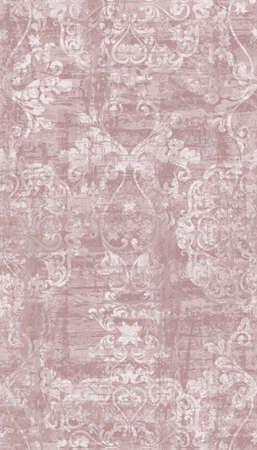 Vintage Baroque damask ornament pattern Vector vertical. Royal decor. Imperial background. trendy color textures