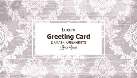 Greeting card ornamented Illustration
