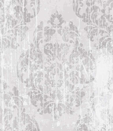 Vintage Baroque Victorian pattern Vector. Floral ornament decoration. Leaf scroll engraved retro grunge texture design. Light color