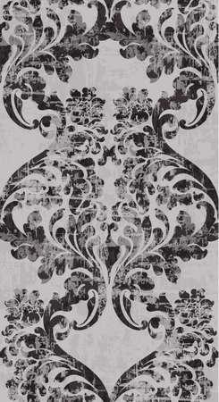 Vintage barocke Ornament Muster Vektor. Viktorianische königliche Textur. Dekoratives Design der Blume vertikal. Trendiges Farbdekor