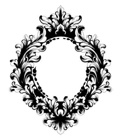 Vintage Baroque Mirror frame.